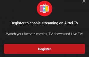 Get Free 3GB on Airtel TV App